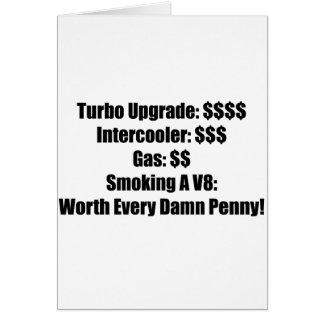Turbo Upgrade Intercooler Gas Smoking A V8 Card