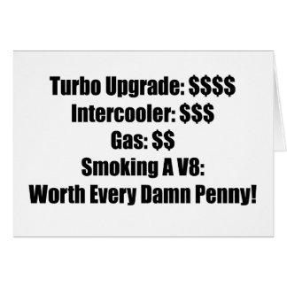 Turbo Upgrade Intercooler Gas Smoking a V8 Worth E Card