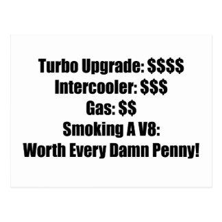 Turbo Upgrade Intercooler Gas Smoking a V8 Worth E Postcard