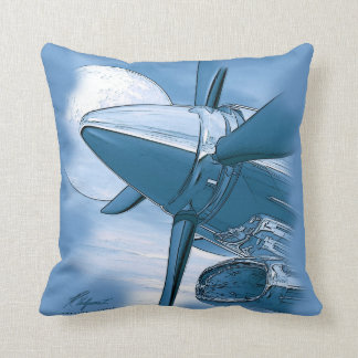 Turbo Vintage Aircraft Pillow Blue Pillows