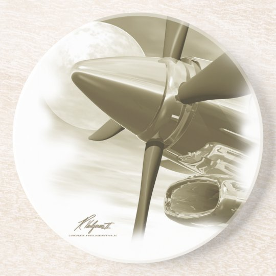TURBO Vintage Style Aircraft Coaster