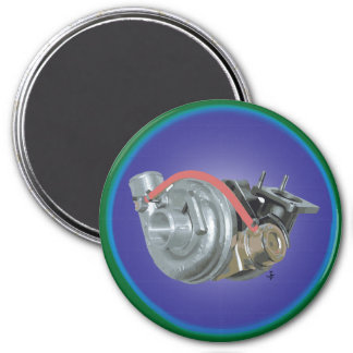 Turbocharger 3 Inch Round Magnet