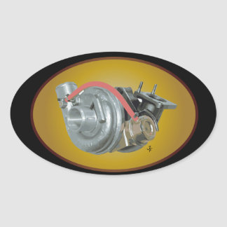 Turbocharger Oval Sticker