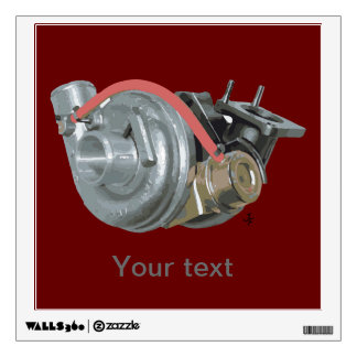 Turbocharger Wall Sticker
