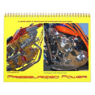 Turbo'd y motores S-Cargados de la motocicleta Calendarios