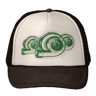 Turbos verde gorros bordados