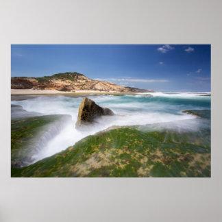 Turbulence - Sorrento beach Posters
