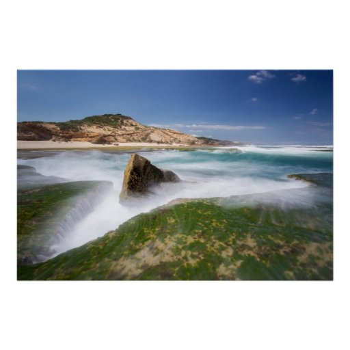 Turbulencia - playa de Sorrento Poster