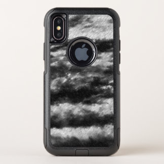 Turbulent black and white wave pattern. OtterBox commuter iPhone x case