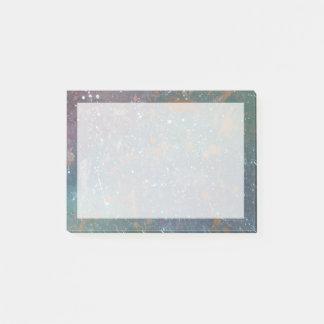 Turbulent Faded Worn Rainbow Splatter Abstract Post-it Notes