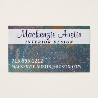 Turbulent Office | Artistic Fade Abstract Splatter Business Card