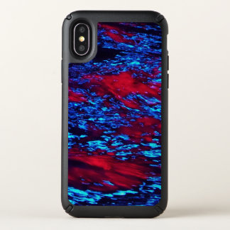 Turbulent red and blue wave design. speck iPhone x case