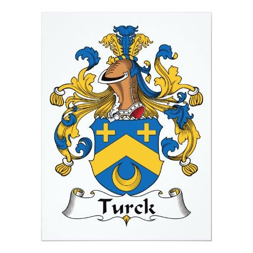 Turck Family Crest 6.5x8.75 Paper Invitation Card