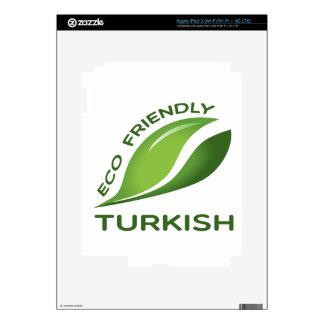 Turco amistoso de Eco iPad 3 Pegatinas Skins