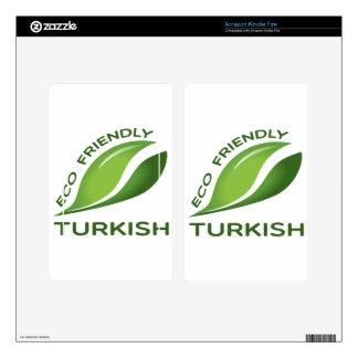 Turco amistoso de Eco Kindle Fire Skins