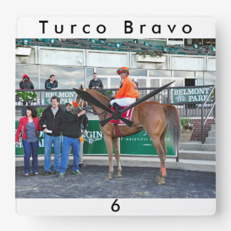 Turco Bravo Square Wall Clock