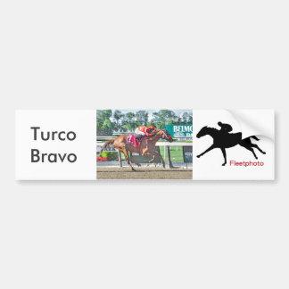 Turco Bravo wins the Flat Out Bumper Sticker
