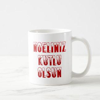 Turco - Noeliniz Kutlu Olsun Taza Básica Blanca