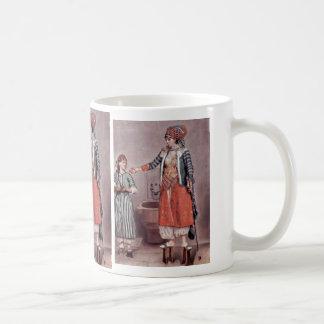 ‰ Turco Tienne B de señora With Maid By Liotard J Taza De Café