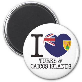 Turcos Caicos y amor v2 de las islas Iman De Nevera