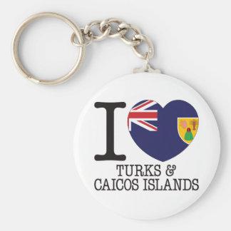 Turcos Caicos y amor v2 de las islas Llavero