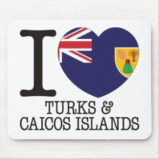 Turcos Caicos y amor v2 de las islas Alfombrilla De Raton