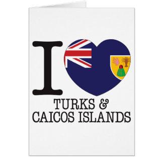 Turcos Caicos y amor v2 de las islas Tarjetas