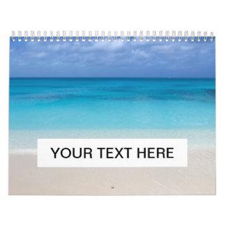 Turcos de la playa el   y foto de sotavento de calendario