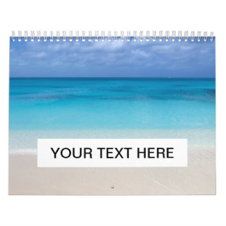 Turcos de la playa el | y foto de sotavento de calendarios de pared