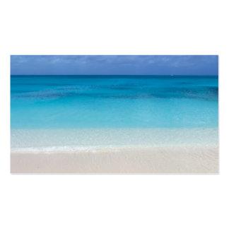 Turcos de la playa el   y foto de sotavento de plantilla de tarjeta de negocio