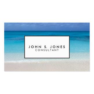 Turcos de la playa el   y foto de sotavento de tarjetas de visita