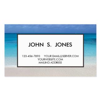 Turcos de la playa el   y foto de sotavento de tarjetas personales