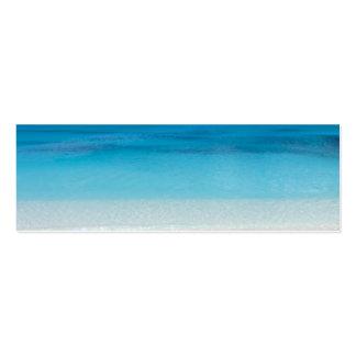 Turcos de la playa el   y foto de sotavento de tarjeta de visita
