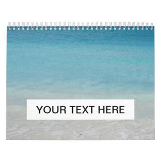 Turcos de la playa el   y foto hermosos de Caicos Calendario De Pared