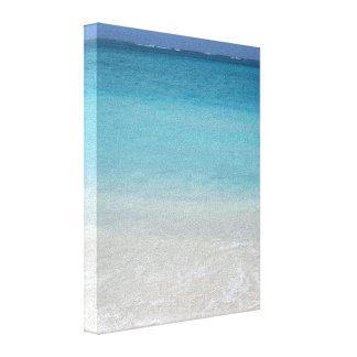 Turcos de la playa el   y foto hermosos de Caicos Impresión En Lienzo