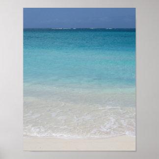 Turcos de la playa el | y foto hermosos de Caicos Póster