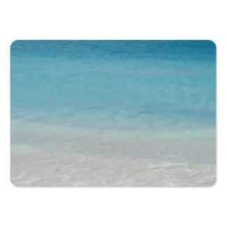 Turcos de la playa el   y foto hermosos de Caicos Plantilla De Tarjeta De Negocio