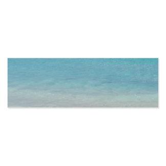 Turcos de la playa el   y foto hermosos de Caicos Tarjeta Personal