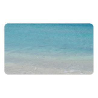Turcos de la playa el   y foto hermosos de Caicos Tarjetas De Visita