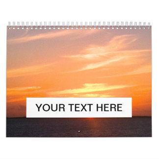 Turcos de la puesta del sol el   y foto magníficos calendario de pared