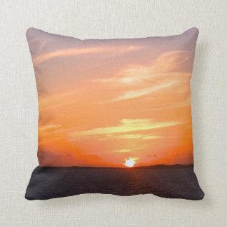 Turcos de la puesta del sol el   y foto magníficos cojin