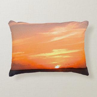 Turcos de la puesta del sol el   y foto magníficos cojín decorativo