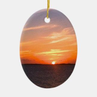 Turcos de la puesta del sol el | y foto magníficos ornaments para arbol de navidad