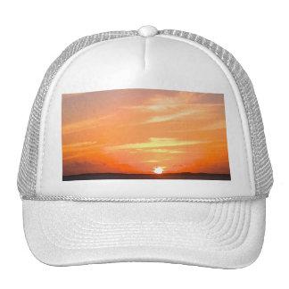 Turcos de la puesta del sol el | y foto magníficos gorras de camionero