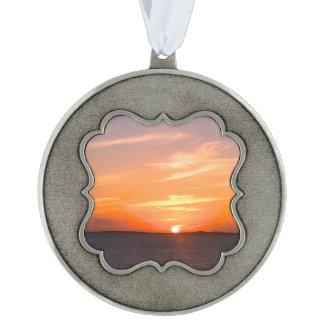 Turcos de la puesta del sol el | y foto magníficos adorno ondulado