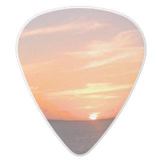 Turcos de la puesta del sol el | y foto magníficos púa de guitarra delrin blanco