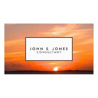Turcos de la puesta del sol el   y foto magníficos plantilla de tarjeta de negocio