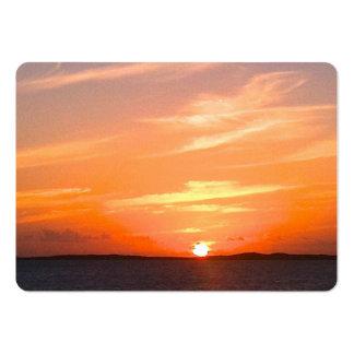 Turcos de la puesta del sol el   y foto magníficos plantillas de tarjeta de negocio