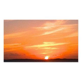 Turcos de la puesta del sol el   y foto magníficos tarjetas de visita
