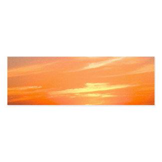 Turcos de la puesta del sol el | y foto magníficos tarjetas de visita mini